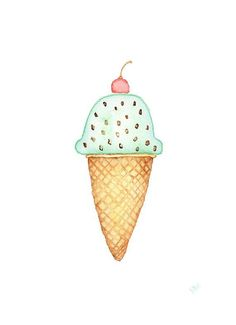 Ice Cream Drawing.