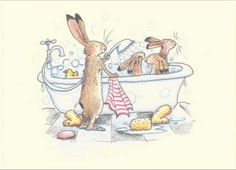 bathing.quenalbertini: Bath & shower for the bunnies