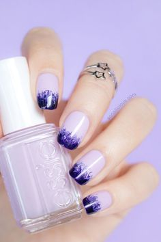 Losing our marbles over So Nailicious' marbling nail art technique, using essie 'go ginza'.