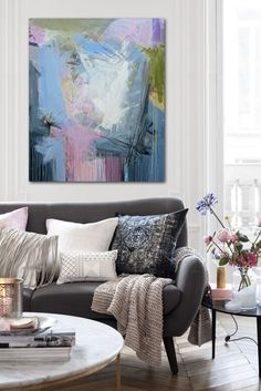 The 2014 romantic pastel home - my scandinavian home living room Hm Home, Style At Home, Home Living Room, Living Room Decor, Living Spaces, Sofa Design, Casa Color Pastel, Salas Home Theater, Piece A Vivre