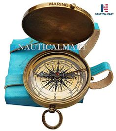 Other Maritime Antiques Search For Flights Brass Pocket Compass Nautical Maritime Boy Scouts Pocket Poem With Leather Case Choice Materials Antiques