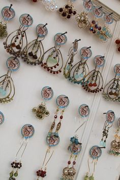 Great use of a small earring hang tag! KShonk Jewelry | Flickr - Photo Sharing!