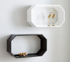 Reese Geometric Shelf, Charcoal
