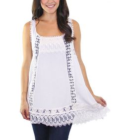 This White Crochet Tunic is perfect! #zulilyfinds