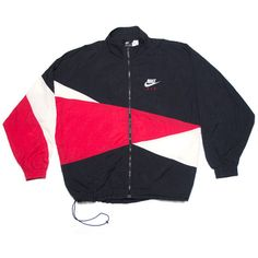 Vintage Nike Jackets ❤ liked on Polyvore featuring outerwear, jackets, tops, shirts, nike, blue jackets, vintage jackets and nike jackets