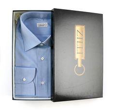 ZILLI Italy Blue Oxford Cotton Spread Collar Dress Shirt     Go Shopping! http://www.frieschskys.com/all-shirts/dress-shirts     #frieschskys #mensfashion #fashion #mensstyle #style #moda #menswear #dapper #stylish #MadeInItaly #Italy #couture #highfashion #designer #shopping