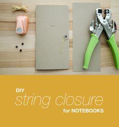 DIY String Closure for your Traveler's Notebook | Tutorial - Paper Nerd