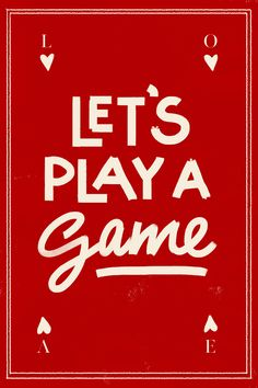 Let's Play a Game - Valentine's Day Printable Card by Cocorrina
