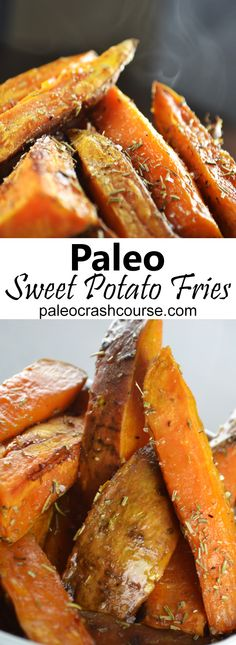 Simple paleo friendly sweet potato fries that are super easy to quickly prepare! You only need 4 simple ingredients.