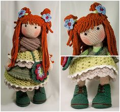 This listing is for an extensive PDF file which contains full instructions for crocheting and finishing off the doll ELLIE.