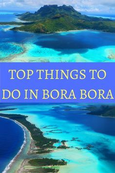 Top 10 Things To Do In Bora Bora From exploring the pristine blue lagoon, to swimming with sharks, to relaxing on a tropical beach – discover the top things to do in Bora Bora. Vacation Places, Honeymoon Destinations, Vacation Trips, Dream Vacations, Vacation Spots, Places To Travel, Places To Go, Italy Vacation, Honeymoon Spots