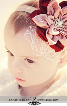 pretty headband!How to make a fabric flower headband tutorial -
