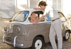 Fiat 600 Multipla... I need this car so me and @Melissa Squires Witt can pick up dudes like this chick