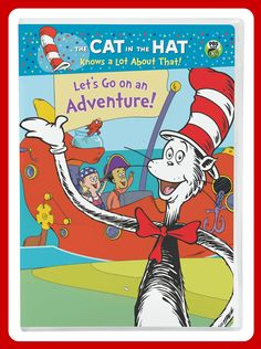 """""""Cat in the Hat: Let's Go on an Adventure"""" is now on DVD! You can purchase a copy online and at retailers near you! #catinthehat #ncircleentertainment"""