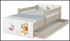 Disney children's bed Winnie and Piglet – Kiddymill Magical Room, Childrens Desk, Mattress Frame, Bed With Drawers, How To Make Bed, Kid Beds, Cot, Kids Bedroom, Winnie The Pooh