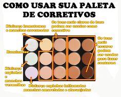 TABELA DE CORES DE CORRETIVOS - Pesquisa Google