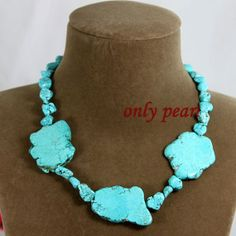 Free Shipping Green Turquoise Necklace 1718inch by OnlyPearl, $17.00