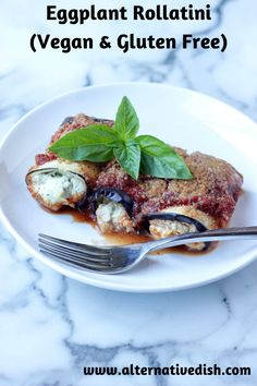 Eggplant is roasted and then stuffed with tofu ricotta and baked in red sauce for a hearty and decadent meal. #vegan #glutenfree #eggplant #recipe Vegan Appetizers, Vegan Dinner Recipes, Italian Recipes, Whole Food Recipes, Cooking Recipes, Vegan Meals, Vegan Pasta Sauce, Tofu Ricotta, Vegan Pesto
