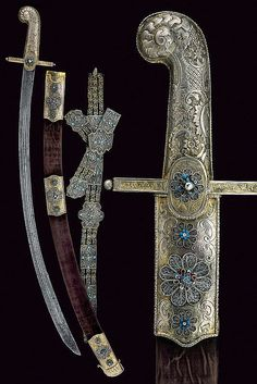 A silver mounted magnate sabre with belt   dating: first quarter of the 19th Century   provenance: Hungary