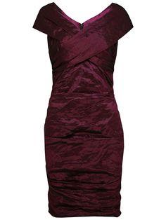 Alexon Metallic Bardot Dress, Dusted Plum online at JohnLewis.com - John Lewis