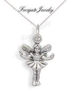 Children's Girl's 3D Fairy Charm Necklace  925 by ForsgateJewelry
