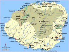 Kauai | Permalink: Road Map of Kauai (Lihue, Hawaii)