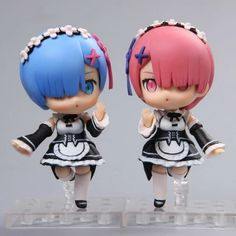 13.34$  Watch here - http://ali7kv.shopchina.info/1/go.php?t=32797155365 - Nendoroid Re:Life in a different world from zero Rem #045 / Ram #046 PVC Action Figure Collectible Model Toy Doll  #buychinaproducts
