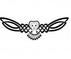celtic owl tattoo idea
