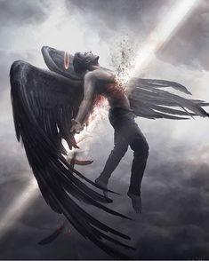 ✔ Anime Angel And Demon Fantasy Art Dark Fantasy Art, Fantasy Kunst, Fantasy Artwork, Fantasy Queen, Fantasy Witch, Fantasy Wolf, Fantasy Hair, Fantasy Dress, Fantasy Makeup