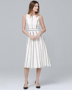 9f6de957ec Women s Sleeveless Seamed Fit-and-Flare Dress by White House Black Market  Summer Dresses