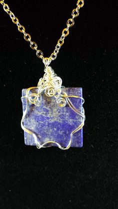 Handcrafted Wire WrappedLapis Lazuli by BeadedDelightsByStef