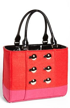 Adorable Kate Spade purse that looks like a peacoat! I can't decide if I love the pink/red or tan/black more...