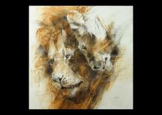 The Lovers - Lion Endangered Species Original Artwork by A E London