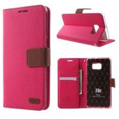Galaxy S6 edge plus pinkki puhelinlompakko.