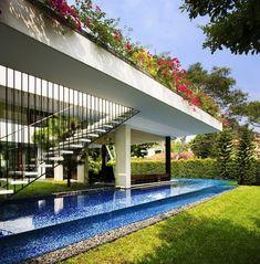 flusssteine deko tangga wohnhaus design von guz architects