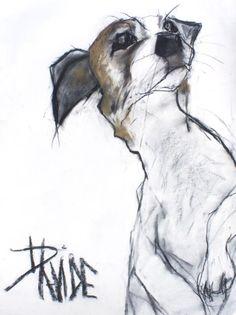 'Hamish' Mixed Media by Valerie Davide Animal Sketches, Animal Drawings, Art Drawings, Dog Illustration, Illustrations, Dog Artwork, Sketch Painting, Dog Portraits, Animal Paintings