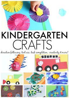Kindergarten Craft Ideas | Kindergarten learning and play ideas, including books, crafts, fine motor, alphabet, math, and sight words.