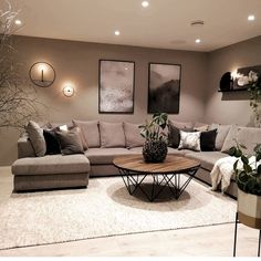 Home Room Design, Stylish Living Room, Living Room Decor On A Budget, Apartment Living Room, Apartment Decor, Classy Living Room, Living Room Decor Modern, Romantic Living Room, Brown Living Room