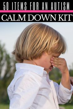 Need calming strategies for kids and autism meltdowns? I'm sharing 50 ideas for kids with autism, ADHD, and other special needs deal with anger management issues and help calm autism meltdowns. These activities help kids with self-regulation and work for both parents and teachers! These calming tools work at home, in the classroom, or in the car! My son has autism and these ideas help him through tantrums and meltdowns! Learn how to deal with autism & meltdowns here! #ASD #autism #SPD