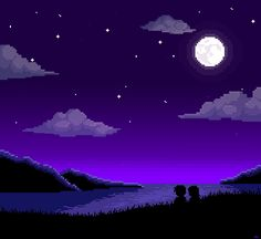 beyond the stars and above all i sit waiting never to be seen again pixel scenery and pixel...
