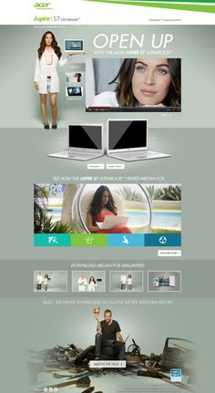 Acer - Aspire S7 by: Andrew Harlow - #web #design