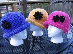 Ravelry: Chenille Glam Roll Brim Hat pattern by Kathy North