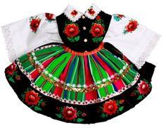 Strój łowicki ludowy - dla dziewczynki do chrztu Folklore, Polish Embroidery, Polish Folk Art, Character Costumes, Folk Costume, Traditional Outfits, Paper Art, Arts And Crafts, Holiday Decor