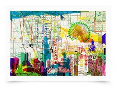 Kitty McCall - Chicago Skyline - Art Prints   GelaSkins