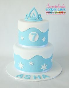 Frozen Inspired Birthday Cake Sweetcheeks Cookies and Cakes