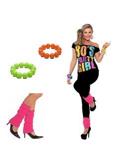 80er jahre mode neonfarben armbaender viele toupiert haar - 80er damenmode ...