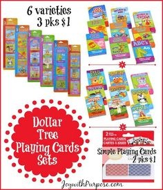 dollartree playing cards you can order them online joywithpurposecom donate to
