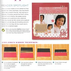 like this layout and the ribbon technique used #creatingkeepsakes