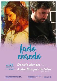 """""""Duetos da Sé"""", #Alfama #Lisboa #Lisbon - DOMINGO 25 DE FEVEREIRO 2018 – 21H30 - #CONCERTO """"IN #FADO"""" - """"FADO ENREDO"""" - Daniela Mendes (voz) & André Marques da Silva (guitarra) - """"Fado Enredo"""" narra a história das influências que o #Fado chamou para si e a forma como foi contaminando os vários personagens com quem se cruza ao longo da trama. A saudade no Samba, na Bossa, nos Ritmos de África ou na Canção Portuguesa compõem a intriga. ..."""