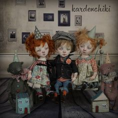 Малыши #kardenchiki_art_doĺls #kardenchiki #artdoll  https://www.facebook.com/kardenchiki/